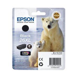 Tinteiro EPSON T2621 (26XL) Preto - C13T26214012