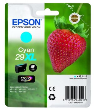 Tinteiro EPSON 29XL T2982 Cyan - C13T29924020