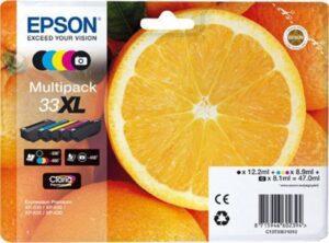 Tinteiro EPSON T3357 (33XL) BK/C/M/Y Multipack - C13T3357401