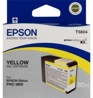 Tinteiro EPSON T5804 Amarelo - C13T580400