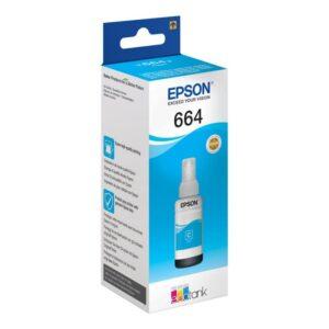 Tinteiro EPSON T664 Ecotank Ciano - C13T664240