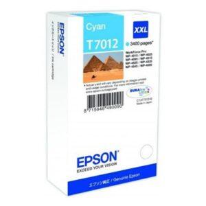 Tinteiro EPSON T7012 XXL Cyan - C13T70124010