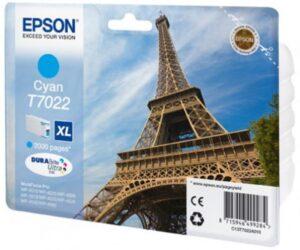Tinteiro EPSON T7022 Cyan Alta Capacidade - C13T70224010