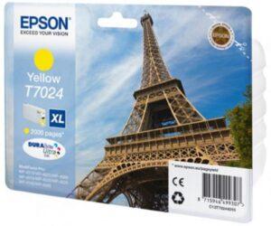 Tinteiro EPSON T7024 Amarelo Alta Capacidade - C13T70244010