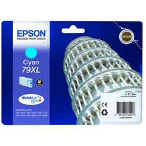 Tinteiro EPSON T7902 XL Cyan - C13T79024010