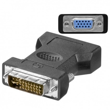 EWENT Adaptador DVI-I 24+5 Macho > VGA Fêmea