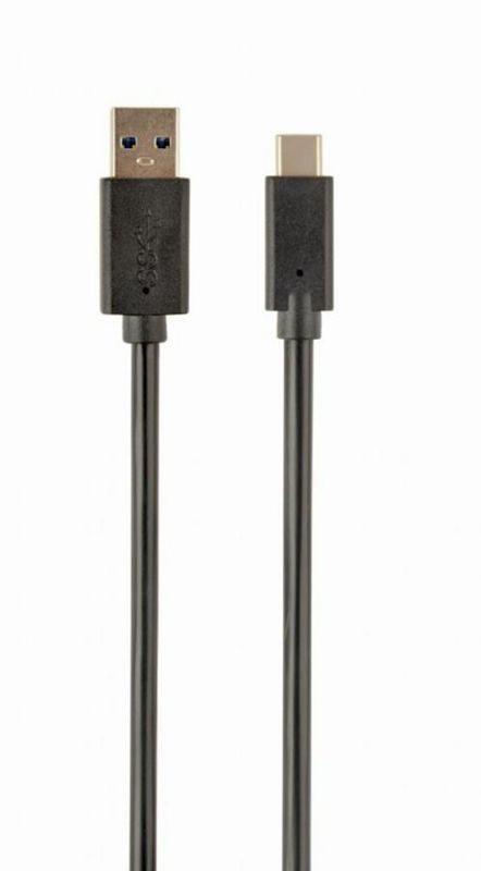 Cabo GEMBIRD USB Type-C Macho > USB 3.0 Macho 1,8m Preto
