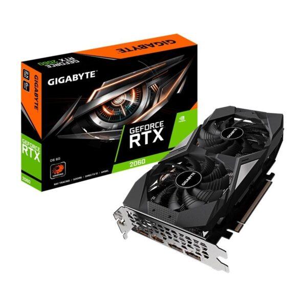 Placa Gráfica GIGABYTE GeForce RTX2060 D6 6GB DDR6 PCI-E 3.0 Rev 1.0