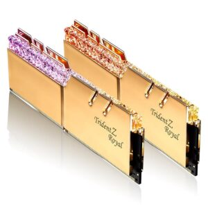 Memória G.SKILL 32GB 2X16GB DDR4 3600MHz CL19 Trident Z Royal Gold