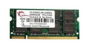 MEMÓRIA G.SKILL SODIMM 2GB DDR2 667MHz CL5 SQ PC5300 MAC