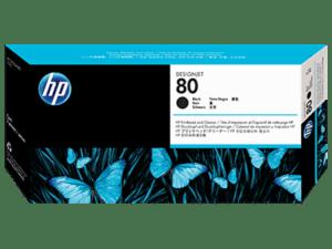 Cabeça de Impressão e Limpeza HP Nº80 DJ1000 Preto - C4820A