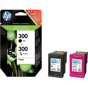 TINTEIRO HP Nº300 Duo Pack Preto e Cores - CN637EE