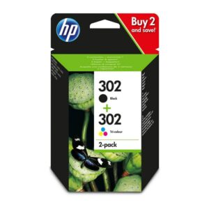 Tinteiro HP Nº 302 Combo Pack Preto/Cores - X4D37AE