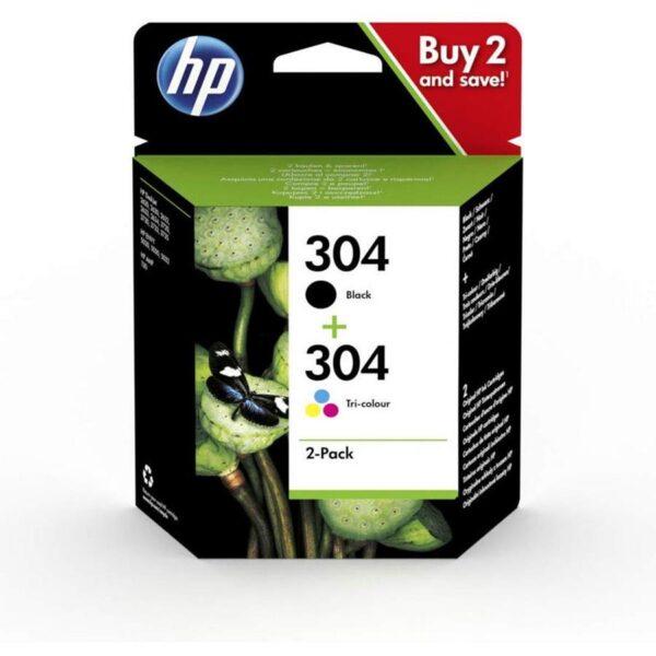 Pack Tinteiro HP Nº304 Preto e Nº304 Cores- 3JB05AE
