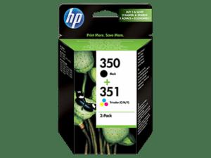 TINTEIRO HP Nº350/351 Combo Pack Preto/Cores - SD412EE