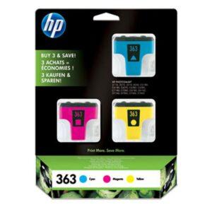 TINTEIRO HP Nº363 Conjunto 3 cores Cyan, Magenta e Amarelo -