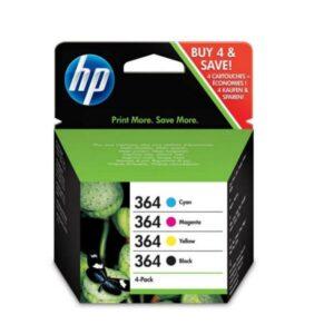 TINTEIRO HP Nº364 Pack Cyan/Magenta/Amarelo/Preto - N9J73AE