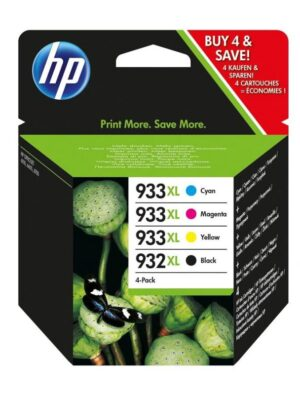 TINTEIRO HP Nº932XL/933XL Combo Pack Preto/Cores - C2P42AE