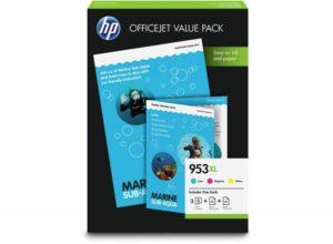 TINTEIRO HP Nº953XL Value Pack (Cyan, Magenta e Amarelo)