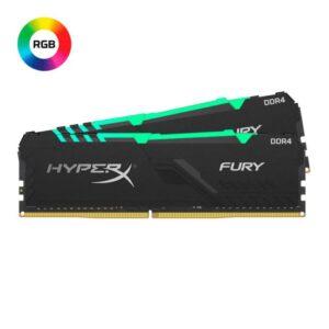 Memória KINGSTON HyperX Fury RGB KIT 16GB 2X8GB DDR4 2666MHz