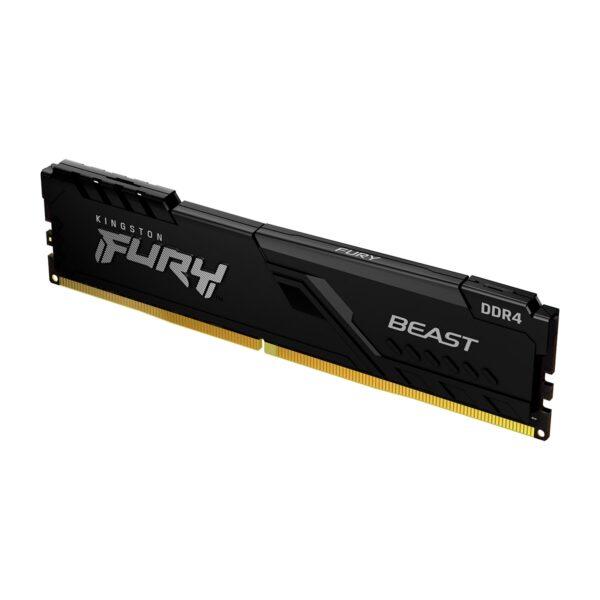 Memória KINGSTON Fury Beast 16GB (1x16GB) DDR4 2666MHz 2R CL16 Preta