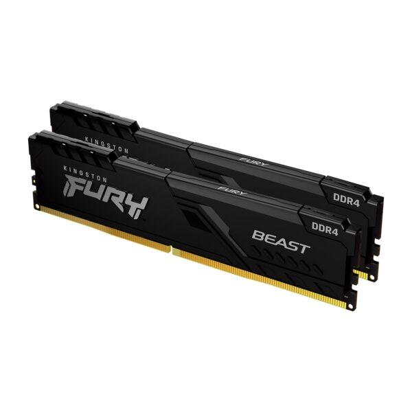 Memória KINGSTON Fury Beast 32GB (2x16GB) DDR4 2666MHz 1R CL16 Preta