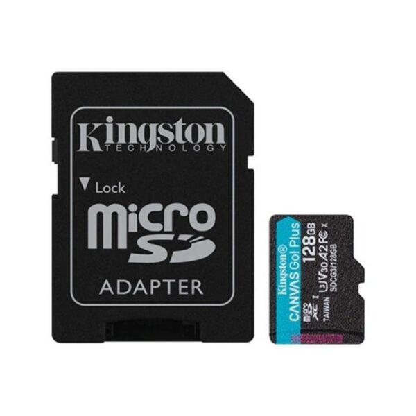 Cartão Memória KINGSTON Canvas Go Plus 128GB V30 - SDCG3/128