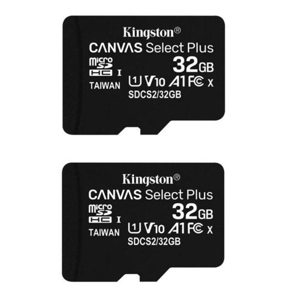 Conjunto Cartão Memória KINGSTON Canvas Select 32GB C10