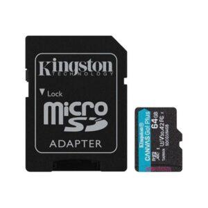 Cartão Memória KINGSTON Canvas Go Plus 64GB V30 - SDCG3/64GB