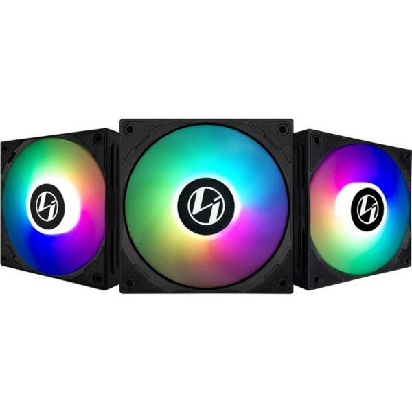 Ventoinhas LIAN LI ST120-3 RGB PWM 120mm Pack 3 + Controlador Preto
