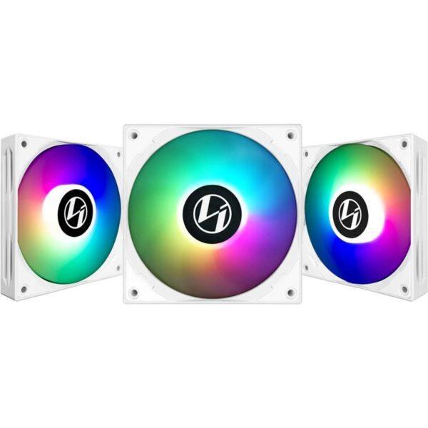 Ventoinhas LIAN LI ST120-3W RGB PWM 120mm Pack 3 + Controlador Branco