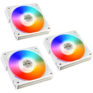 Ventoinhas LIAN LI UNI AL120 RGB PWM 120mm Pack 3 Branco