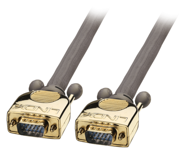 Cabo LINDY VGA HD15 Macho/Macho Blindado Gold 3m - 37821