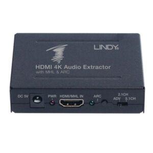 Audio Extrator LINDY HDMI 4K ARC e MHL - 38097