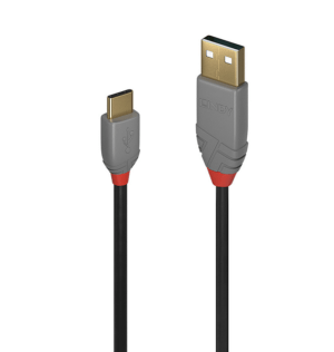 Cabo LINDY  USB 3.1 Tipo C M /2.0 A M 1.0m ANTHRA LINE- 36886