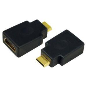 Adaptador LOGILINK Mini HDMI Macho > HDMI Fêmea Gold - AH000