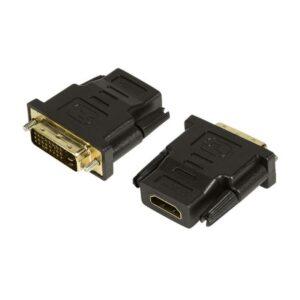 Adaptador LOGILINK HDMI Fêmea / DVI-D 24+1 Macho