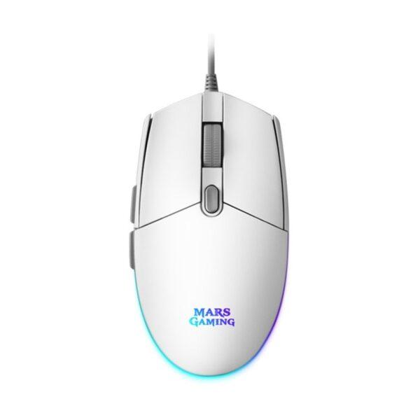Rato MARS GAMING MMG White RGB Gaming