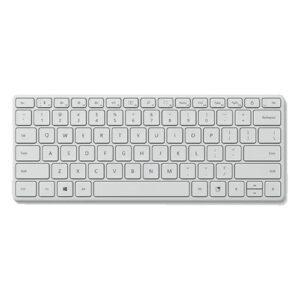 Teclado MICROSOFT Designer Compact Bluetooth Branco - 21Y-00053