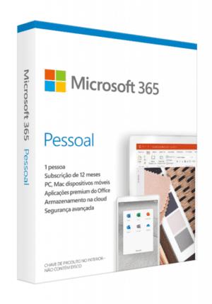 MICROSOFT 365 Pessoal 1 Ano PT Win/MAC Medialess