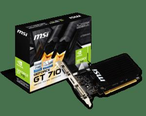 Placa Gráfica MSI GeForce GT710 1GB DDR3