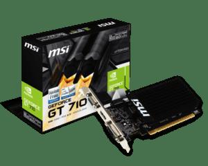 PLACA GRÁFICA MSI GeForce GT710 2GB LP DDR3 - GT710