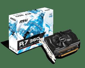 Placa Gráfica MSI RADEON R7 360 OC 2GB GDDR5