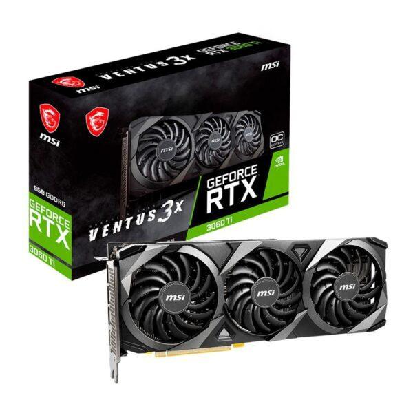 Placa Gráfica MSI GeForce RTX3060 TI VENTUS 3X 8GB OC GDDR6