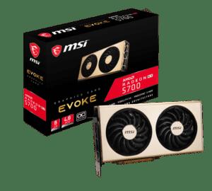 PLACA GRÁFICA MSI RADEON RX5700 EVOKE OC 8GB DDR6 PCI-E 4.0
