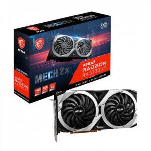 Placa Gráfica MSI RADEON RX 6700 XT MECH 2X OC 12GB DDR6 PCI-E 4.0