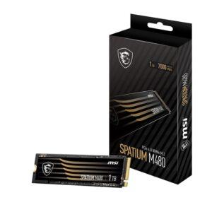 SSD MSI SPATIUM M480 1TB M.2 Gen4 NVMe PCI-e 4.0