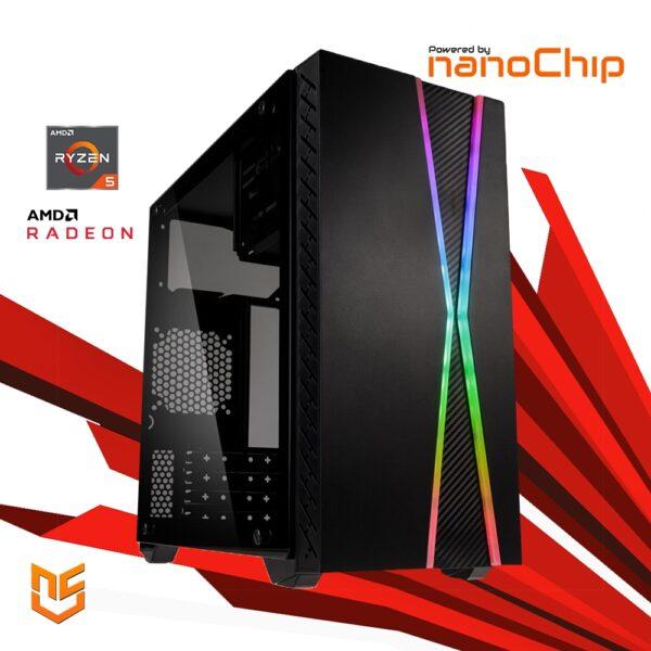 Computador nanoGamer Ryzen 5 4650G 16GB 500GB R5