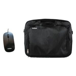 "Mala NILOX Notebook Bag Essential 2 15.6"" Preto + Rato Óptico USB"