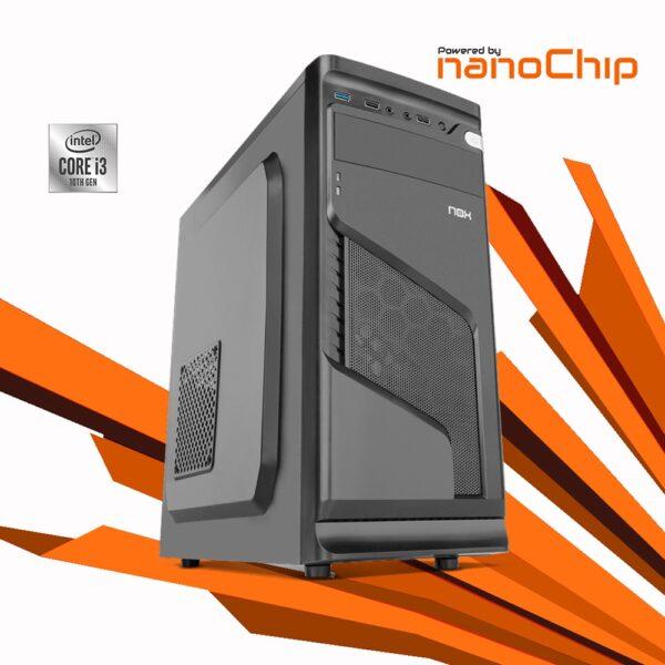 Computador nanoWorker Intel i3 10100 8GB 480GB 500W